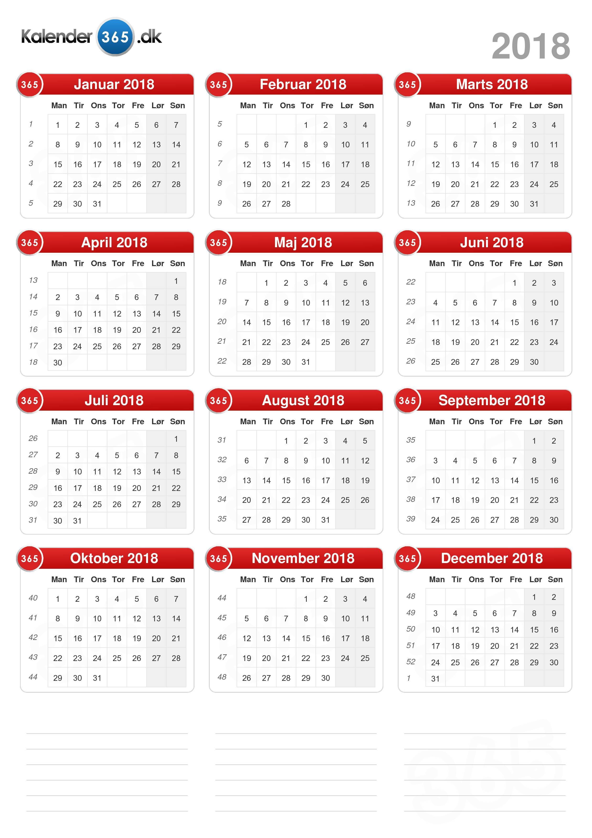 kalender med dagens nummer