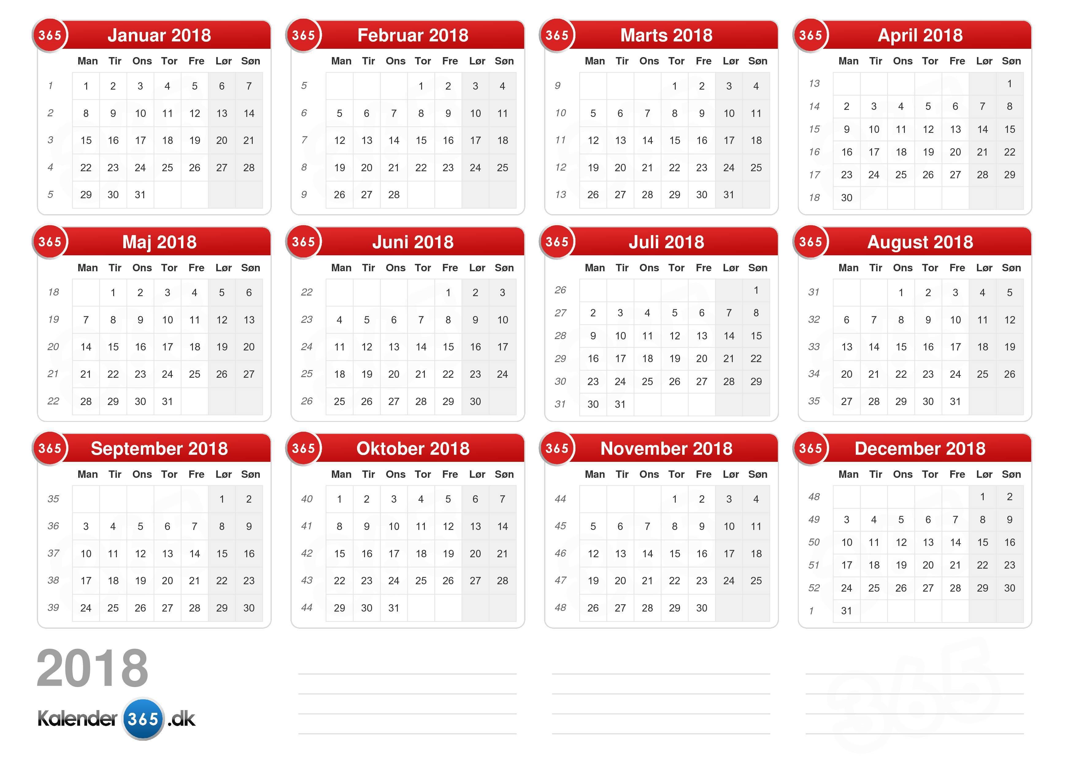kalender dansk