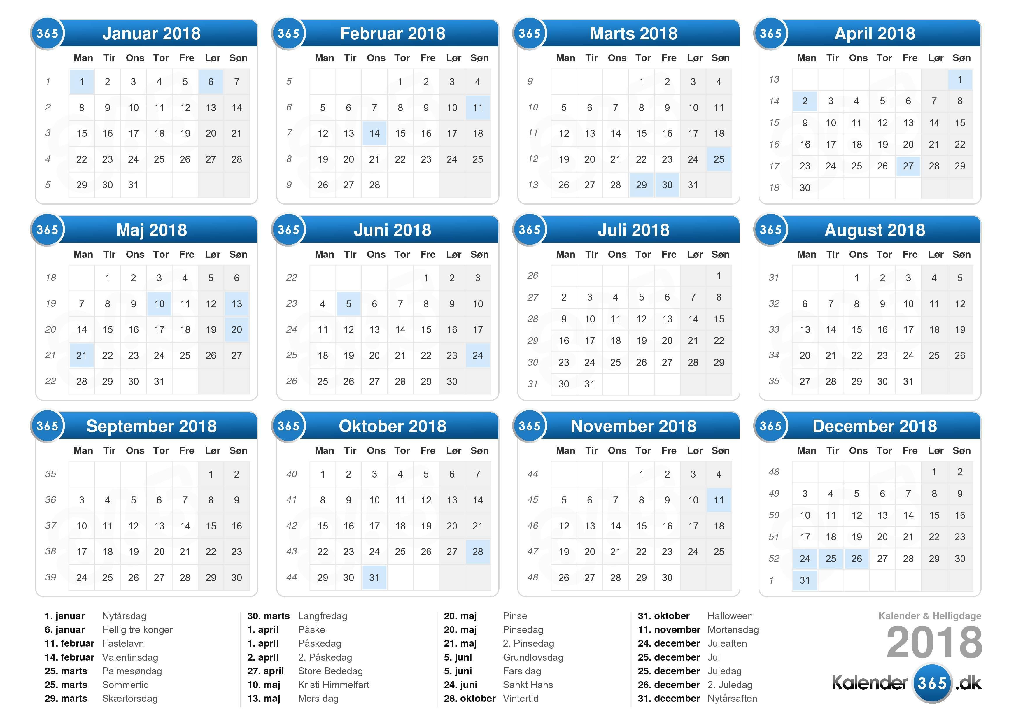 kalender med